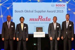 Murata receives Power of Partnership award at Bosch Global Supplier Award 2015