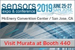 Murata to exhibit at the Sensors Expo & Conference 2019