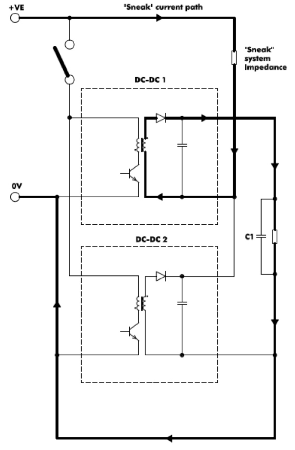 Series connection for higher output voltages